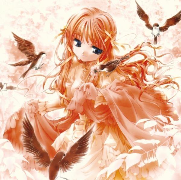 anime girl bird