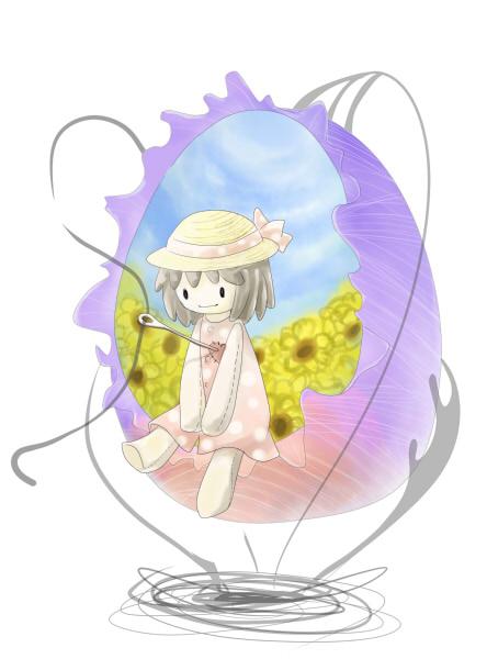 anime sew doll