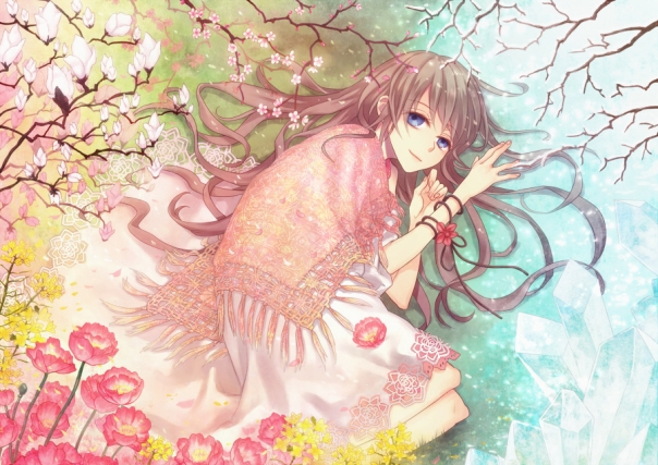 flowers-anime-spring-girl