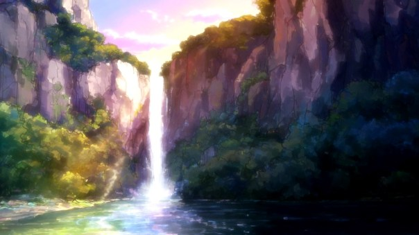 Hai to Gensou no Grimgar waterfall